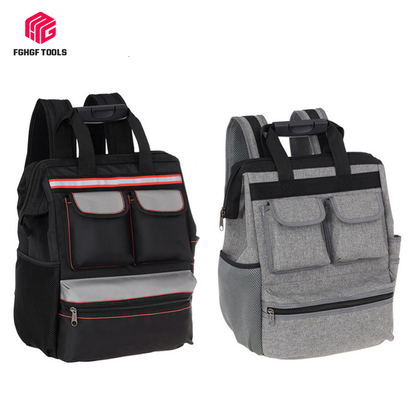 FGHGF Shoulder Tool Backpack Bag Elevator Repair Belt Hardware Kit Organizer Oxford Cloth Canvas Travel Bags Electrician Bag