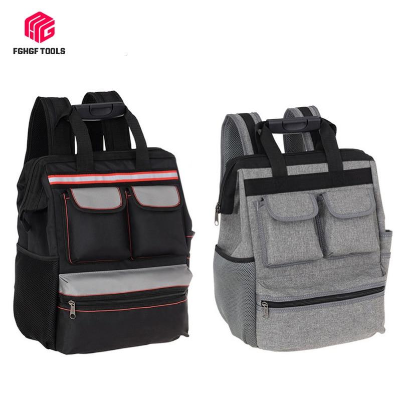 FGHGF Shoulder Tool Backpack Bag Elevator Repair Belt Hardware Kit Organizer Oxford Cloth Canvas Travel Bags Electrician Bag