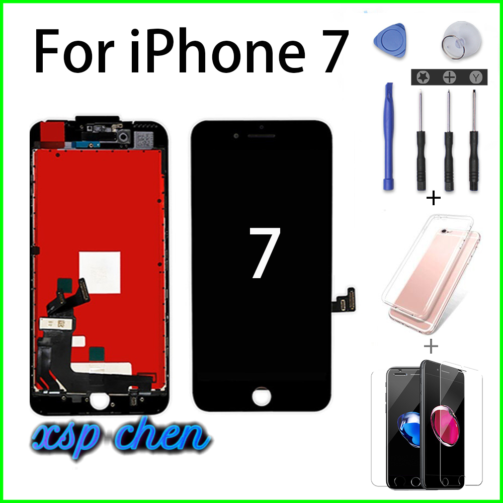Black White <font><b>Ecran</b></font> for <font><b>iPhone</b></font> 7 LCD Assembly Digitizer Pantalla 3D <font><b>5</b></font> 6 7Plus Touch Screen Screwdriver Tempered Film image