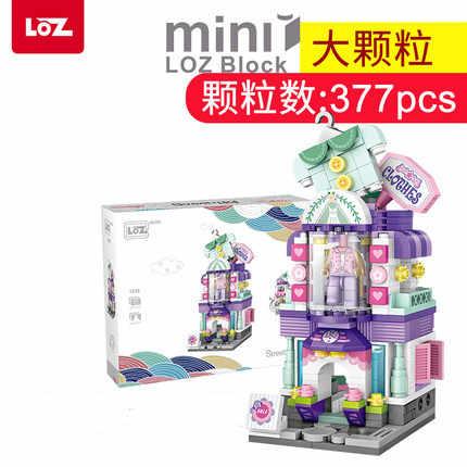 Loz Mini Blokken City View Scène Koffie Winkel Winkel Architecturen Modellen & Gebouw Quiz Kerst Speelgoed Voor Kinderen 1645