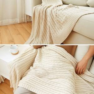 Image 5 - Sale Plaid Blankets Beds Cover Soft Throw Blanket Bedspread Bedding Knitted Blanket Air Conditioning Comfy Sleeping Bedspreads