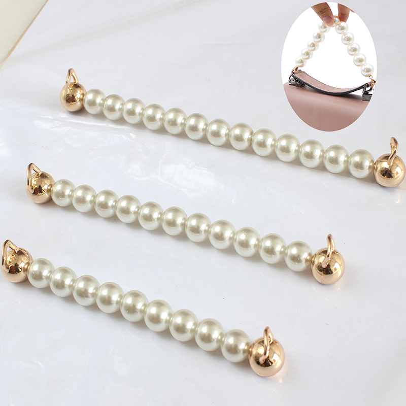 15/18/21cm Pearl Beaded Short Bag Straps Short Shoulder Belt Purse Handle Diy Chain Bag Accessories