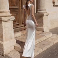 White Dress Woman High Quality Luxury Runway Elegant V Neck Backless Bodycon Long Maxi Party Vestidos Lady Wedding Formal Dress