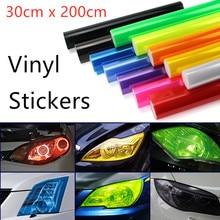 비닐 필름 30cm x 200cm 자동차 헤드 라이트 미등 색조 스티커 창 자동차 안개 조명 tinting Rear Lamp Viny Stickers