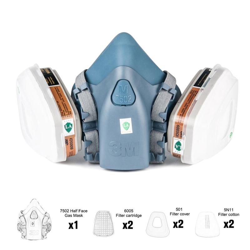 7502 полулицевая покраска, распыляющий респиратор, Chemcial Safety Work, газовая маска, 7 в 1, костюм, безопасный рабочий фильтр, Пылезащитная маска PM021|Химические респираторы|   | АлиЭкспресс