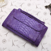 New Arrivals Customized Clutch Bag PU Leather Snake Pattern