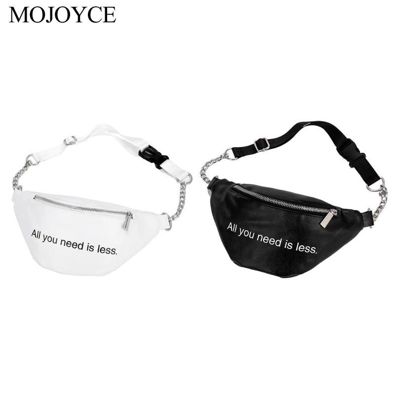 Fashion PU Leather Fanny Waist Pack Women Shoulder Bag Chain Pouch Phone Shoulder Belt Handbags Sac A Dos Bolsas Feminina Mujer