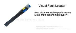 Image 3 - 6 In 1 Fiber Optic FTTH Tool Kit Optische Faser Cleaver FC 6S Miller der Zange Stripper Optische Power Meter 1mW VFL 1mW 5KM