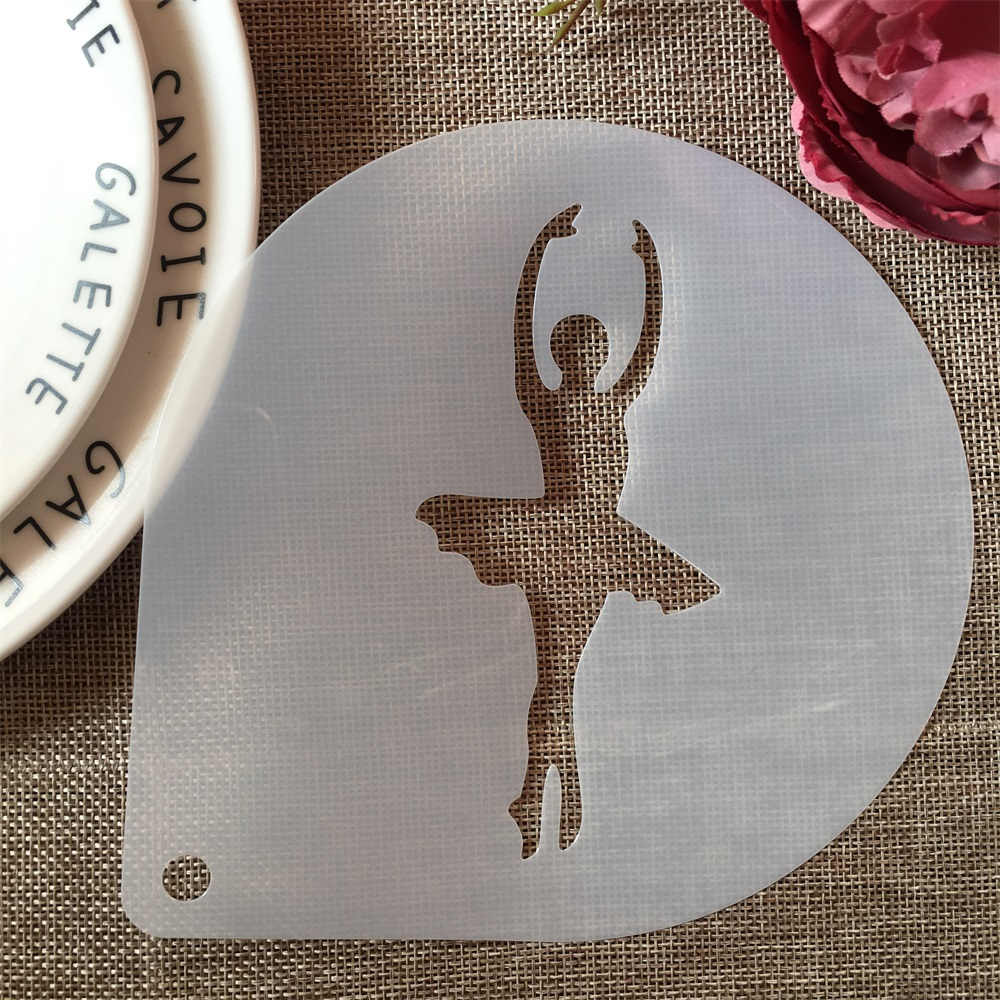 1Pcs 15cm Ballet Dance Girl A DIY Craft Layering Stencils Painting Scrapbooking Stamping Embossing Album Paper Card Template