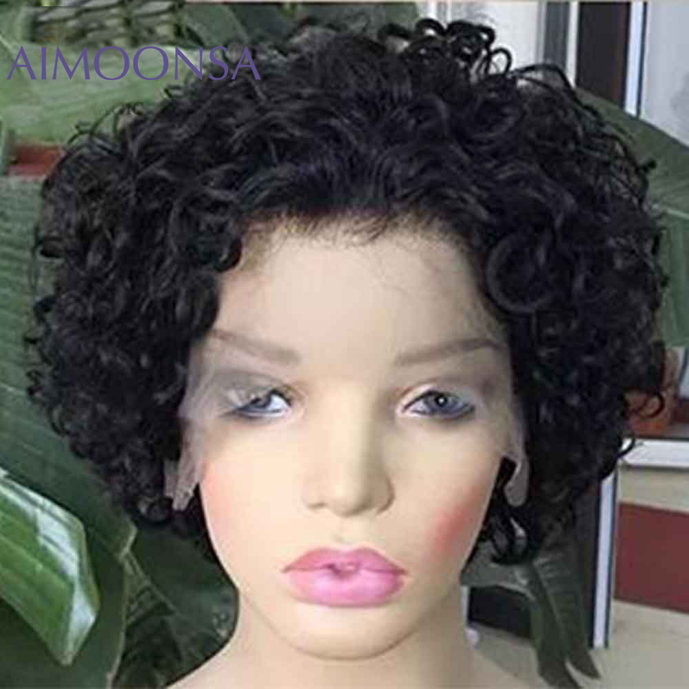 Short Pixie Cut Wig Short Bob 150% 13*6 Transparent Lace Front Human Hair Wig For Black Women Pre Plucked With Baby Hair Remy