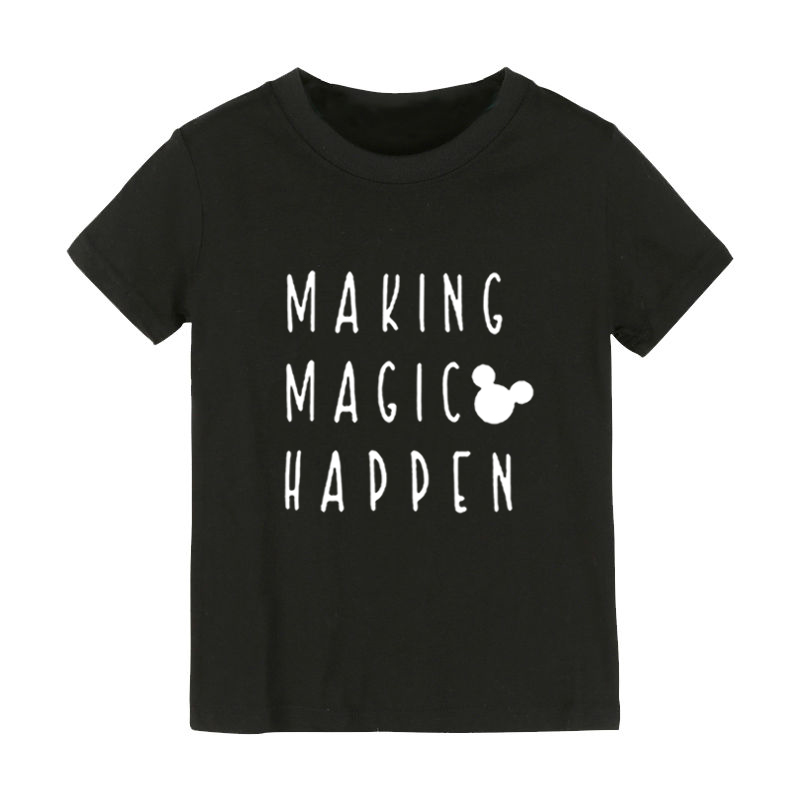 Making Magic Happen mouse Print Kids tshirt Boy Girl shirt Children Toddler Clothes Funny Street Top Tees CZ-167 image