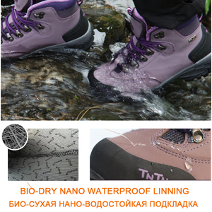Image 5 - TNTN Botas de senderismo impermeables para hombre y mujer, zapatos de senderismo transpirables, botas de montaña