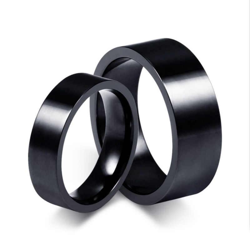 1PC Baru Cincin Pria Titanium Hitam Sederhana Fashion Pria Yang Disukai Aksesoris Pesta Perhiasan Kolokasi Hadiah Ukuran 6 7 8 9 10