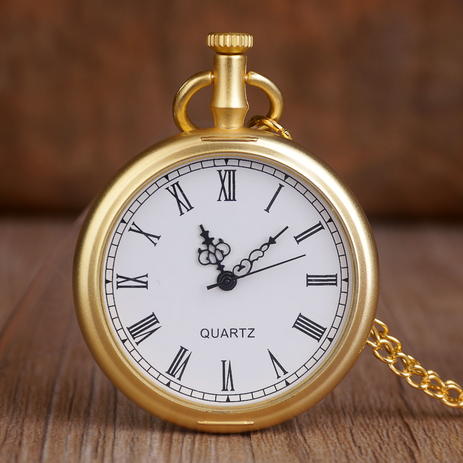New Retro Gold Fashion Quartz Pocket Watches Stainless Steel Pocket Watches Necklace Chain For Mens Womens Best Gifts