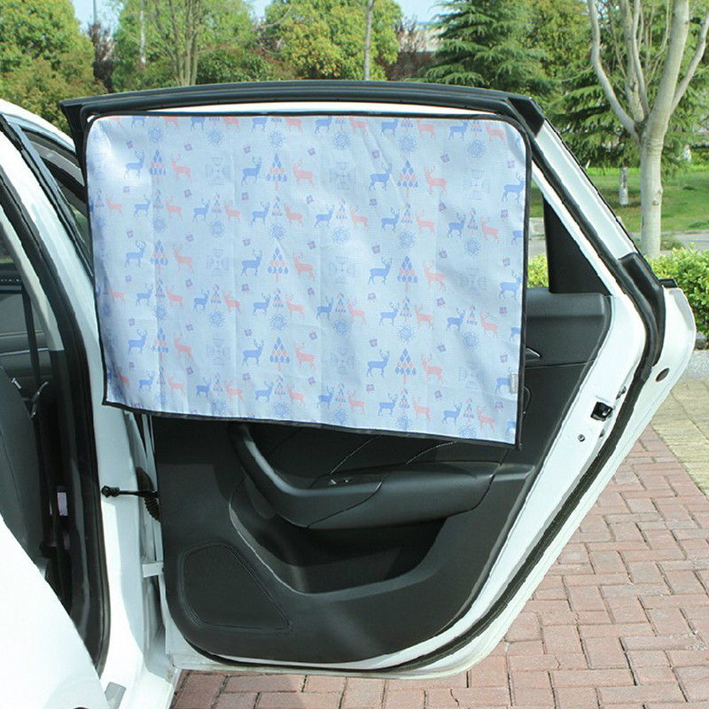 Adjustable Protector Solar Coche Car Window Curtain Universal Car Windshield Sunshade Side window sunshade curtain Summer in Side Window Sunshades from Automobiles Motorcycles