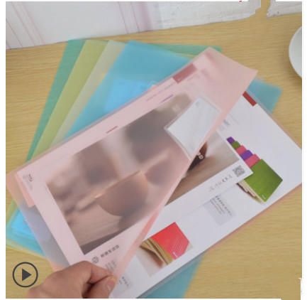 5pcs New Style Thick Single Page Folder A4 L-Shape File Protective Sleeve Two Page File Bag Insert Dan Pian Jia