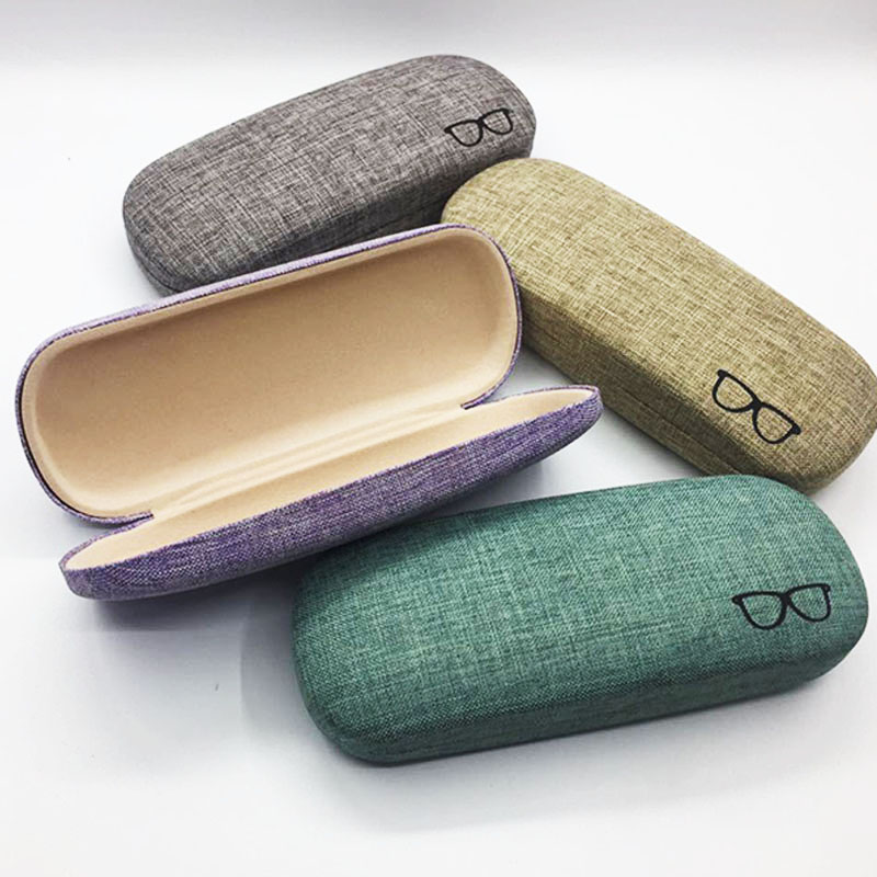 Fashion Sackcloth Reading Eyewear Case For Kids Women Sunglasses Box Case Handmade Eye Glasses Shell Protector Men Glasses Bag