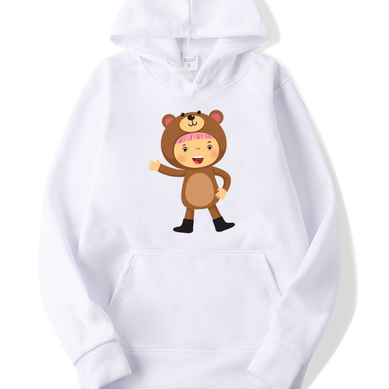 Printed Cute Women's Hoodie 2020 Spring And Autumn Men's And Women's Street Wear White Cotton Hoodies