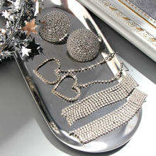 Женские серьги с кристаллами flatfoosie модные блестящие гвоздики