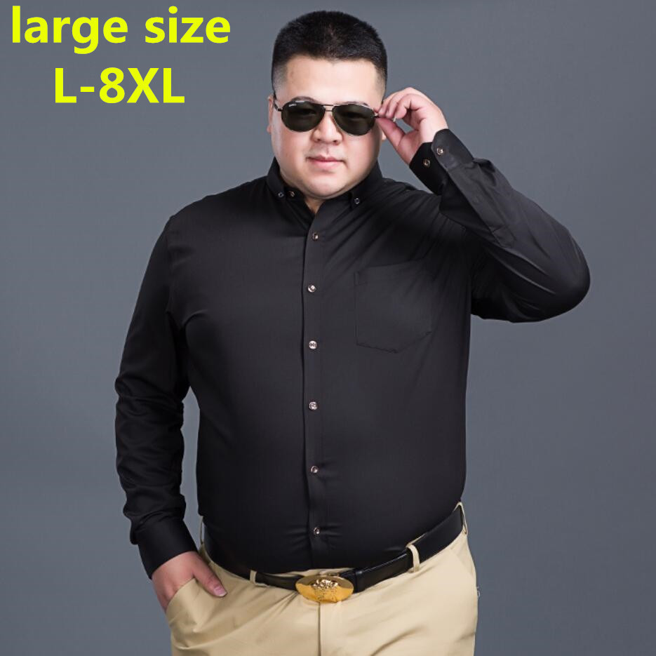 Large Size Design Super High Quality Cotton And Polyster Men Shirts Business Casual Shirts Luxury Brand Oxford Men Dress Shirts