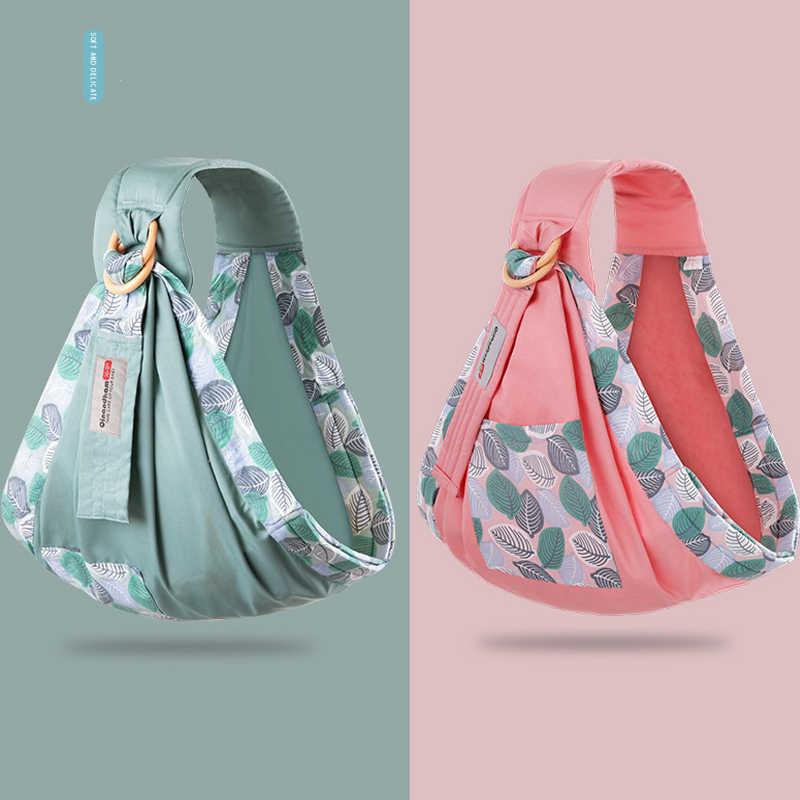 Otulaczek do noszenia plecaków plecak z nosidełkiem chusta do karmienia dla niemowlęta miękki naturalny Wrap oddychający bawełniany kangur