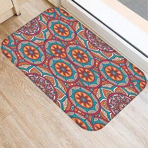 Image 2 - 40*60cm Plaid Muster Matte Non slip Wildleder Weichen Teppich Tür Matte Küche Wohnzimmer Boden Matte hause Schlafzimmer Dekorative Boden Matte.
