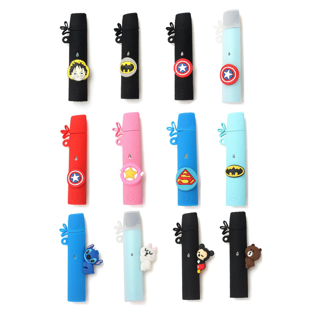 Silicone Case Protective Cover Suit For RELX Pod Kit Cartoon Wrap Sleeve Skin With Free Lanyard Sling