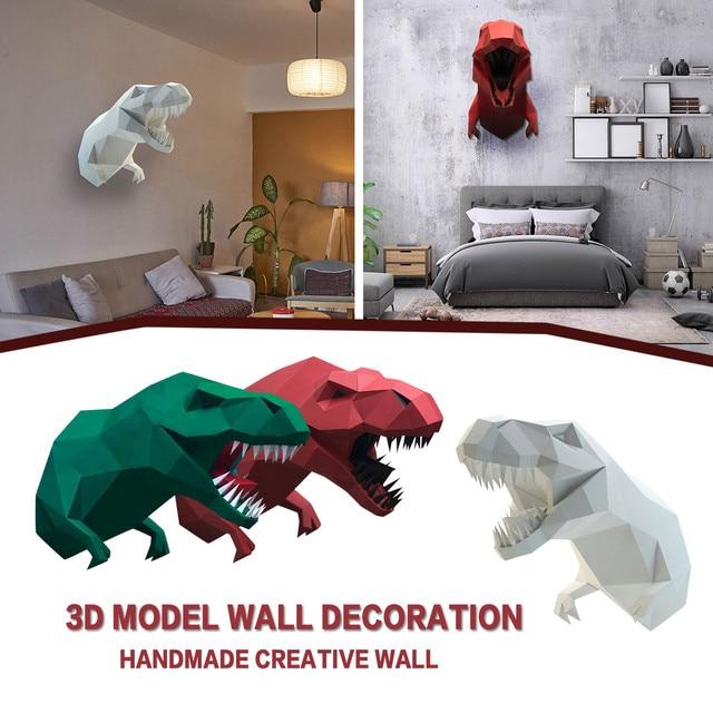 Creative Diy 3d Model Wall Decoration Manual Creative Wall Hanging Wall Decoration Animal Papercraft Model Wall Decorative 5