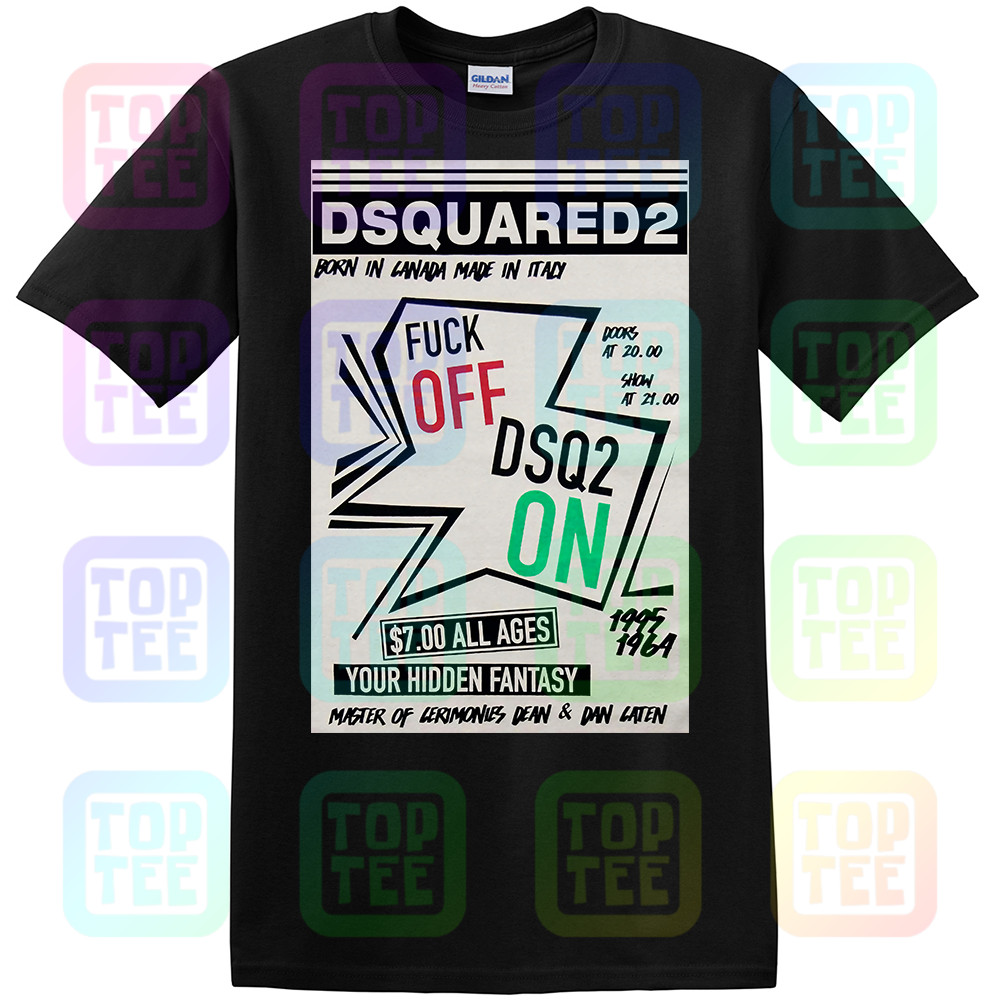 New Dsq2 Your Hidden Fantasy T-Shirt Black Printed Tee Unisex Size: S-3Xl