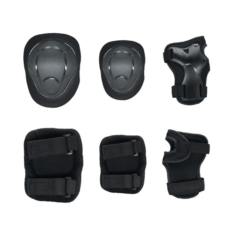 6 In 1 Kids Protective Gear Knee Pads And Elbow Pads Set With Wrist Guard And Adjustable Strap For Cycling Skateboarding KT01