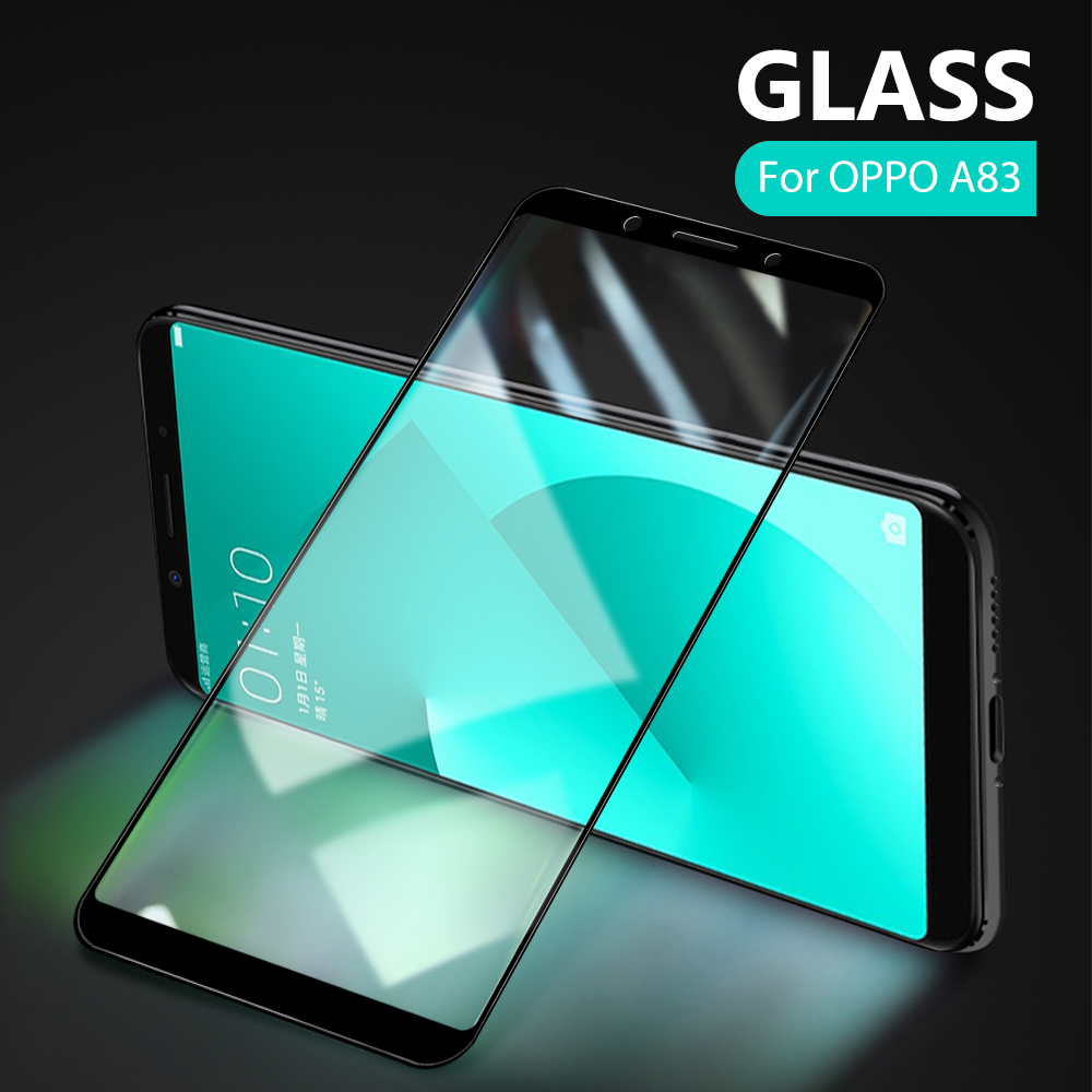 Full Cover ProtectiveTempered Glass For OPPO A79 A77 A73 A59 A57 A37 A83 A1K AK A1 Protective Front Film Screen Protector