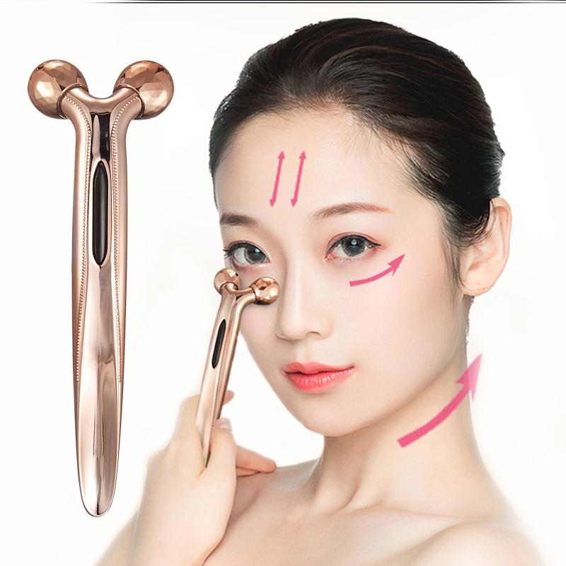Micro-current Roller Massager Eye Massager Facial Massage Roller Body Slimming Face Lifting Anti-aging Skin Tightening