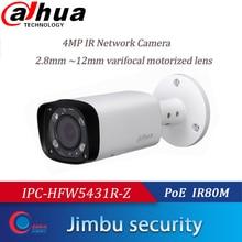 Dahua 4mp poe h.265 câmera ip ip67 IPC HFW5431R Z 80m ir 2.8 12 12mm vf lente motorizada zoom cctv câmera onvif multi idioma