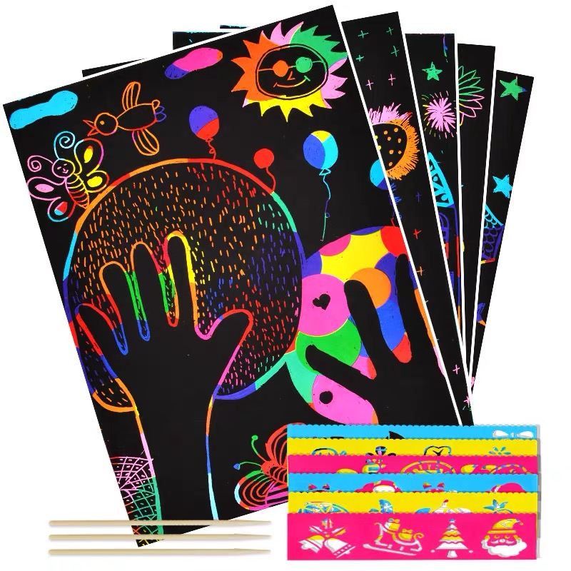 Arts And Crafts For Kids Diy Toys For Children Color Cardboard Creative DIY Draw Sketch Notes Children DIY Toys Kids 4-6 Years
