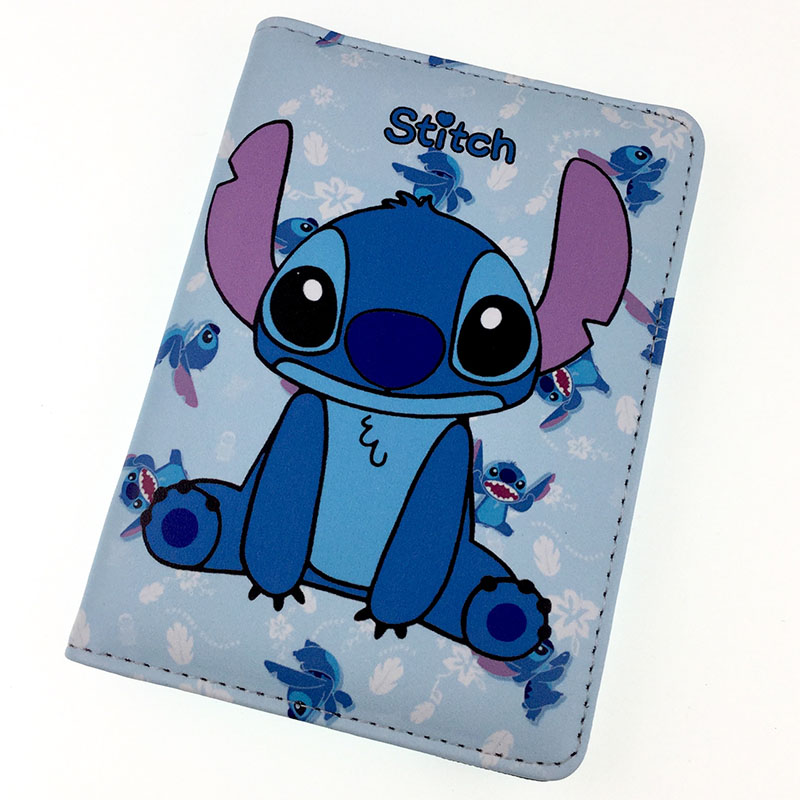 Passport Holder Protector Cartoon Stitch Business Card Soft Passport Cover Travel Accessories Leather Passport Holder