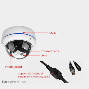 Image 3 - Full HD 1080P Dome Fisheye AHD Security Camera 20M IR 180 Degree Angle 2MP 4MP AHD Infrared CCTV Camera with OSD Cable