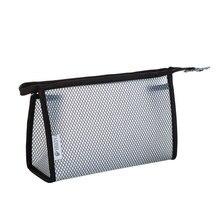 Portable Waterproof EVA Plastic Makeup Bag Fashion Translucence Net Travel Cosmetic Case Zipper Travel Toiletry Bag