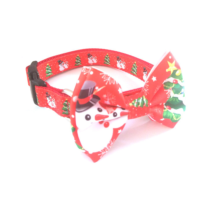 Pet Supplies Dog Neck Ring Christmas Decorative Pattern Neck Ring Fashion Printed Pet Collar