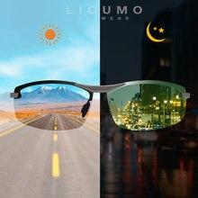 LIOUMO-gafas de sol polarizadas fotocromáticas de día y noche para hombre, lentes de conducción camaleón, UV400