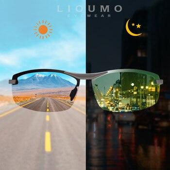 LIOUMO New Design Day&Night Photochromic Polarized Sunglasses Men Driving Glasses Chameleon Eyewear UV400 gafas de sol hombre
