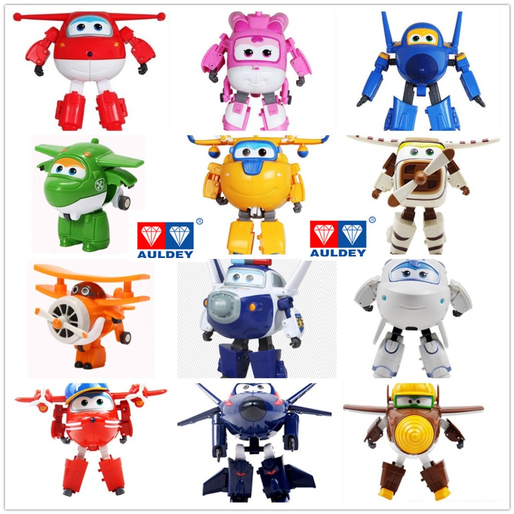 Big!! Without Original Box 15 Cm Super Wings Transformation Deformation Airplane Robot Action Figures Child Toys Gift Superwings