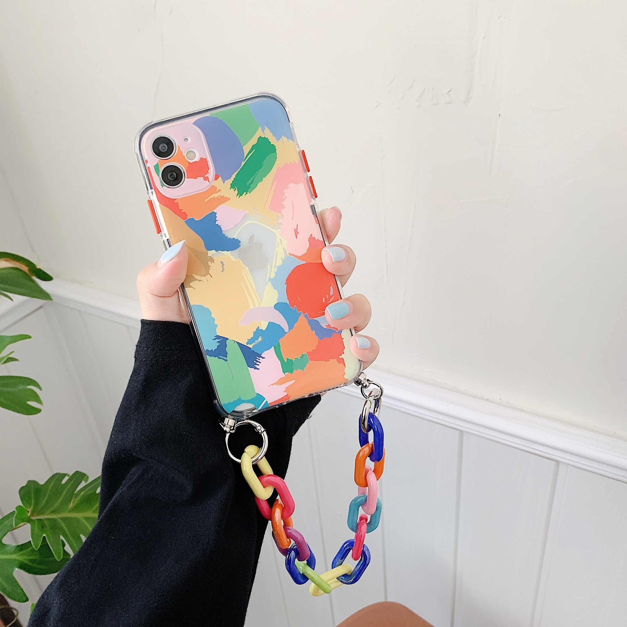 Coque souple colorée avec Bracelet Graffiti pour iphone ...