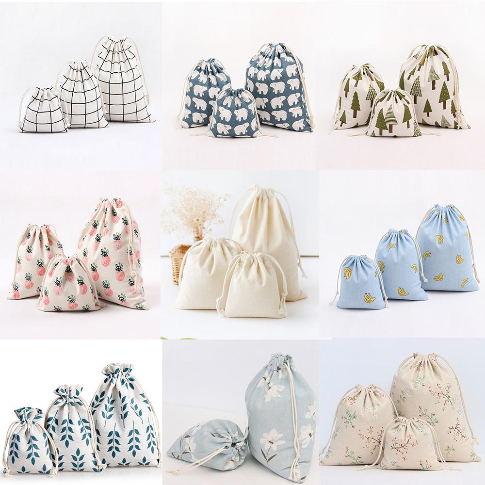 Фабричная цена, оригинальные хлопковые чехлы на шнурке, держатель для конфет, Подарочная сумка для ювелирвечерние украшений, 14x16 см, 19x24 см, ...