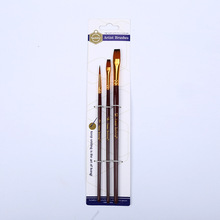 Brushes-Supplies Painting Flat-Brush Drawing-Art Blue/coffee-Paint Nylon Wood for Wooden-Handle