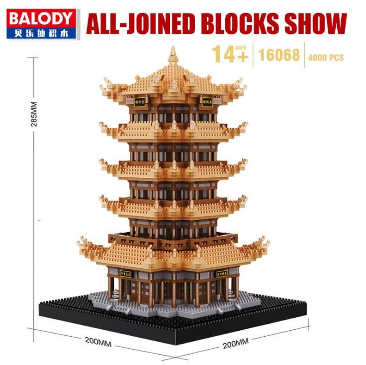 Balody World Famous Architecture Diamond Building Blocks Toy Taj Mahal Vassili Church Big Ben London Bridge 16
