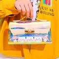 Прозрачный чехол-карандаш с рисунком  большой емкости  Студенческая сумка для канцелярских принадлежностей  косметички  мультяшный Чехол-К...