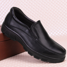 Shoes Men Loafers Black genuine Leather Shoe