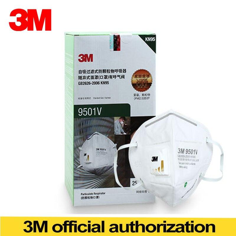 9501v Haze Kn95 3m Mask Masks Riding Anti 25pcs Dust