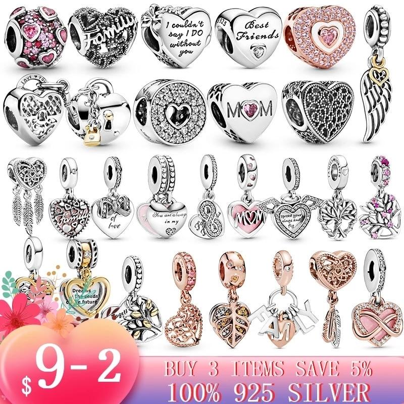Charm Beads Bracelet Jewelry-Making Silver DIY 925-Sterling-Silver Disn Original Pandora
