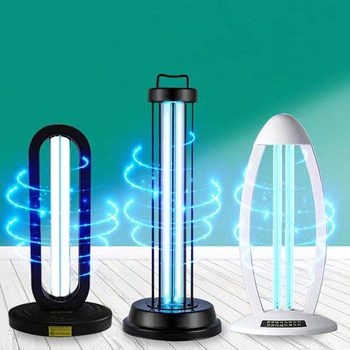 Germicidal Light UVC 38W Deodorizer Air Sanitizer Purifier Odor Eliminators for Rooms Cabinets Wardrobe Sterilizer UVC Light